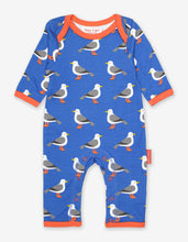 Load image into Gallery viewer, Organic Seagull Print Sleepsuit
