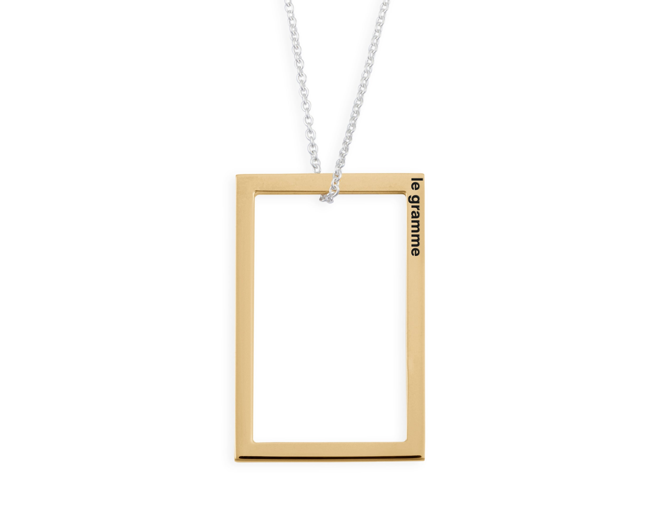 collier rectangle le 2,7g