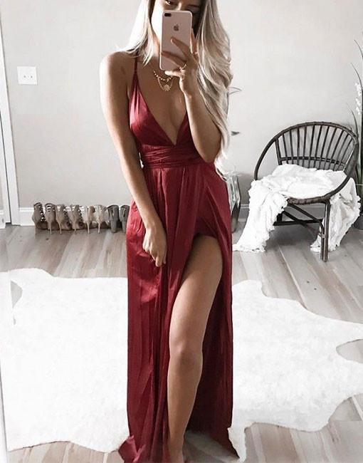 IVY spaghetti strap silky dress