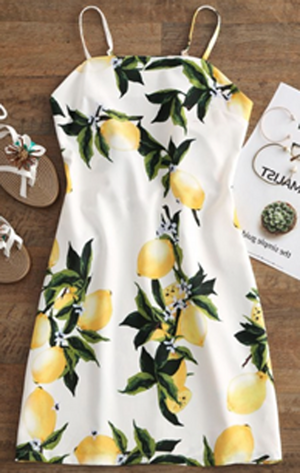 Lemon cute dress