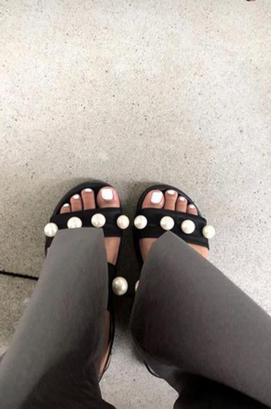 pearl cute sandals