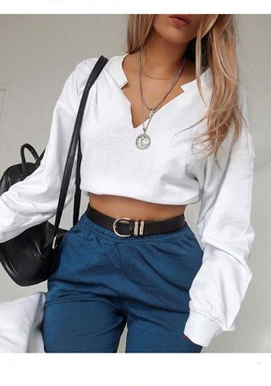 Jenna crop with v neck tops