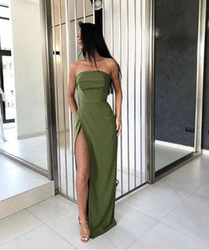 ANGGUN off shoulder split dress