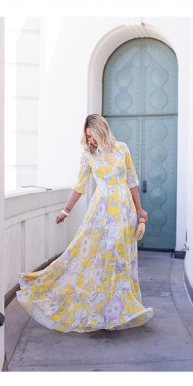 pretty flower dress