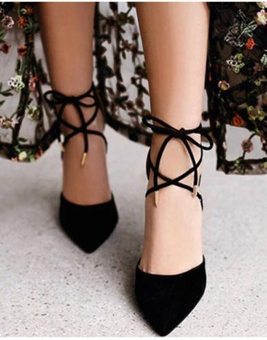 high heels strappy shoes