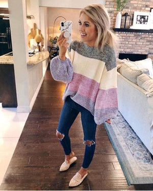 RESTI loose striped sweater