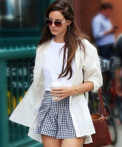 CHLOE checkered mini skirt
