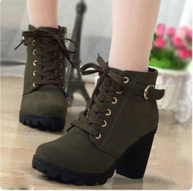 green olive winter boots