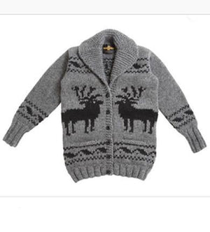 deer pattern sweater