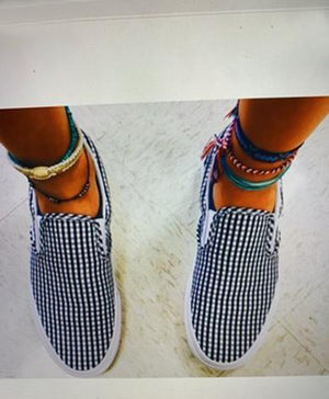 canvas checkered shoes