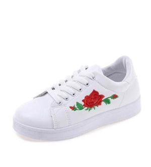 rose white sneakers