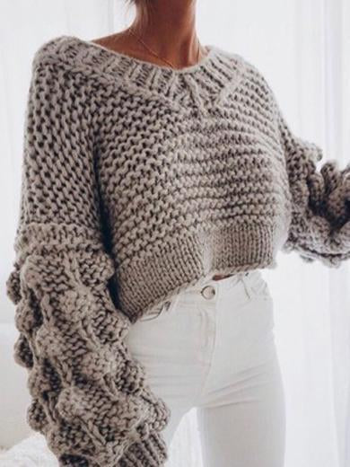wool knitted sweater