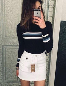 LUCINTA stripe knitted sweater
