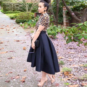 CLARA high low satin skirt