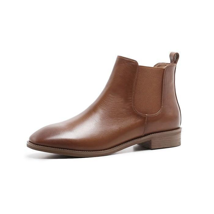 PHOEBE  LEATHER CHELSEA BOOTS