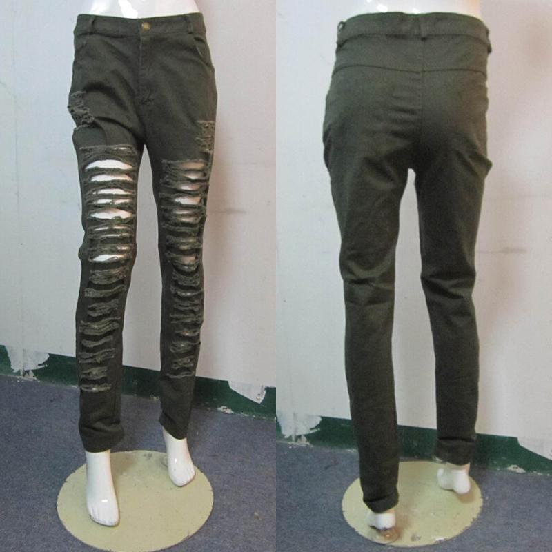 The Hole Pants High Waist Stretch Jeans