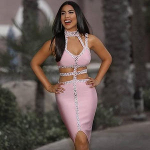 VIRA strappy bandage dress