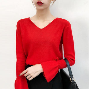plain flare sleeve top