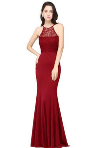 SABINA burgundy lace dress