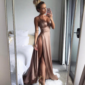ANGGITA satin long dress