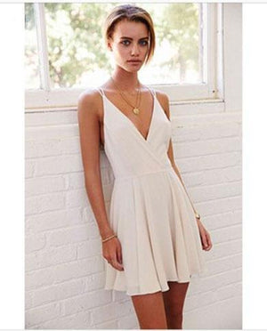 ANDINE v neck backless dress