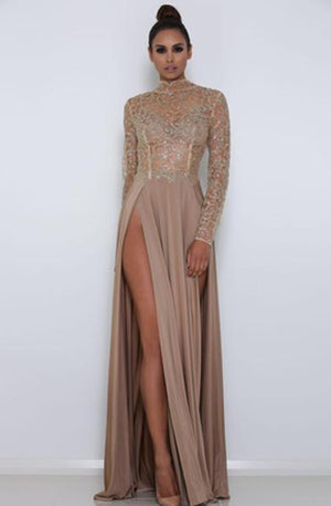 LEAH long sleeve glitter dress