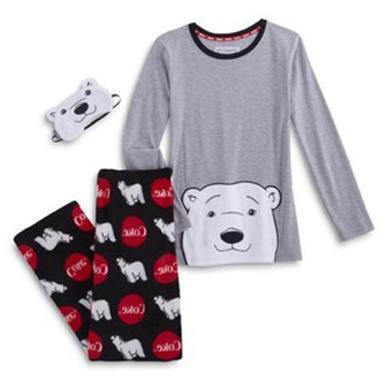 COCA COLA BEAR FLEECE 2 PC PAJAMAS