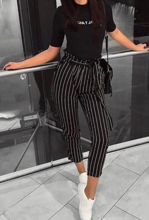 casual stripe pants