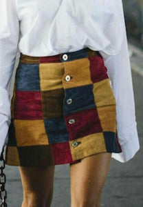 GRACE patchwork skirt