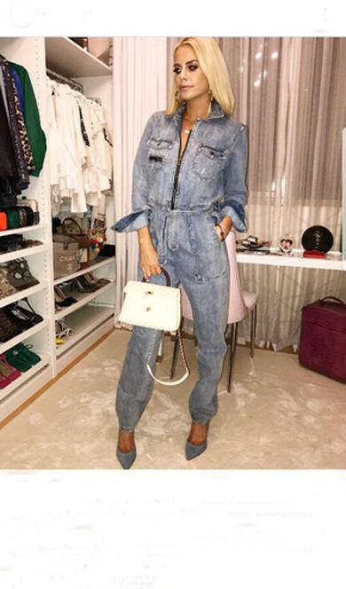 cute double denim