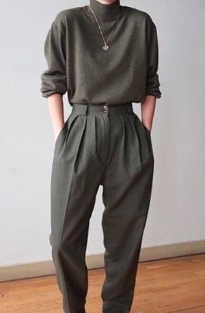 soft suit pants
