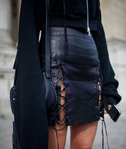 ELIZABETH leather skirt