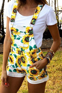 cute sunflower overalls