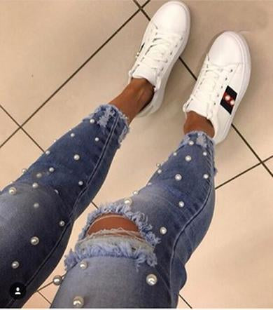 MOLLIE pearls jeans