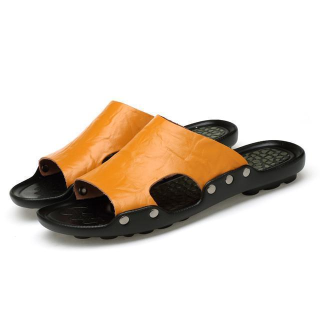 The hot british genuine cow leather sandals