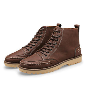 The Timsnow Tan Leather Shoes.