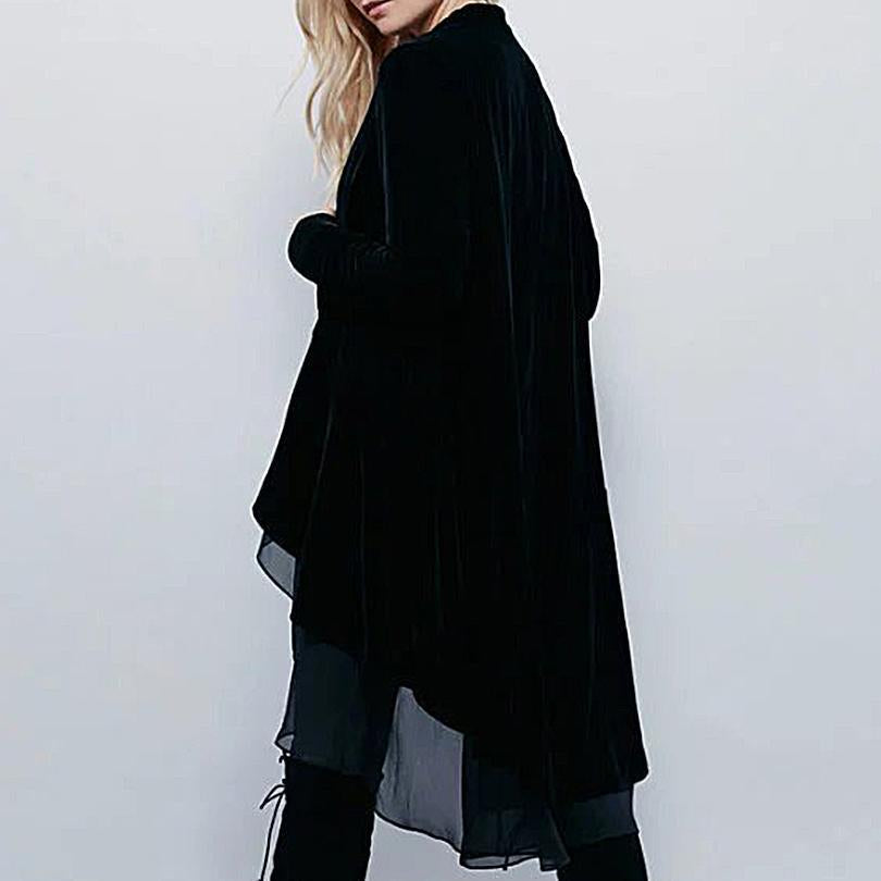 The FinalFit Long Velour Trench Coat