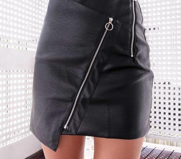The Black Leather Skirt