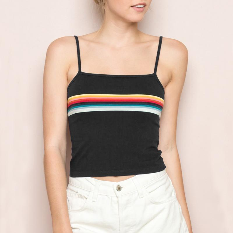 The Rainbow Tops Contrast Color Stripes