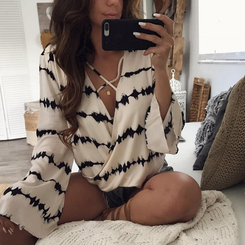 The Bandage Blouse Casual Loose Tops