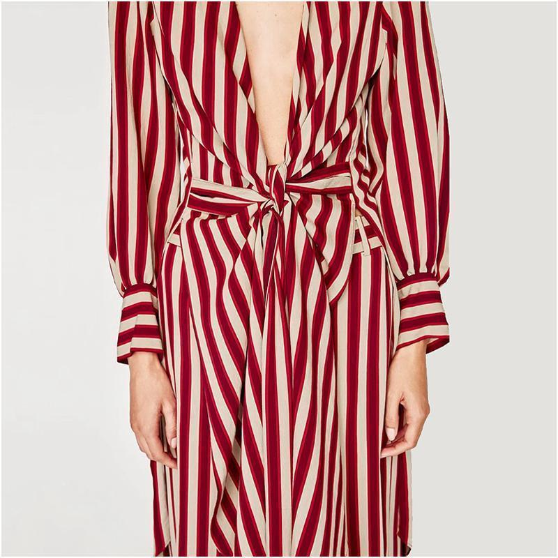 The Striped Cardigan Loose jumpsuit.