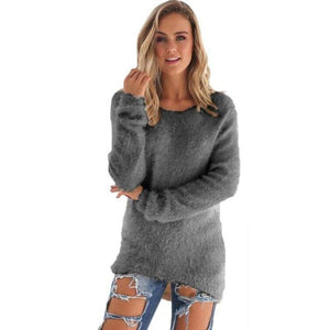 O-Neck Hedging Loose Sweater