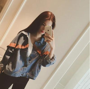 The Loose style pure denim Jacket