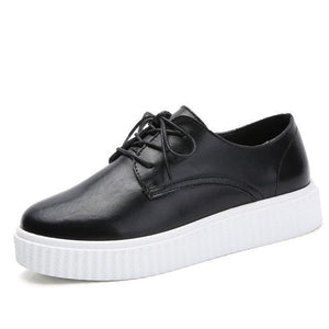 Genuine Leather Creepers Casual Boat Shoes