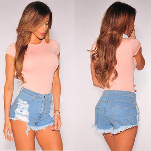 Straight High Waist Short Pants