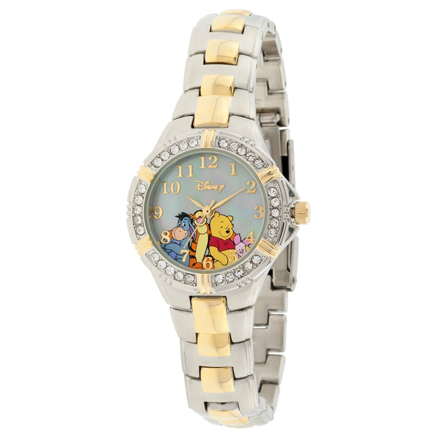 Disney Winnie the Pooh and Friends Two-Tone Bracelet Watch with Crystal Accents - WTP063