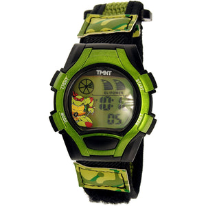 Disney Teenage Mutant Ninja Turtles Boy's  Green Nylon Digital Sport Watch - TURAD300