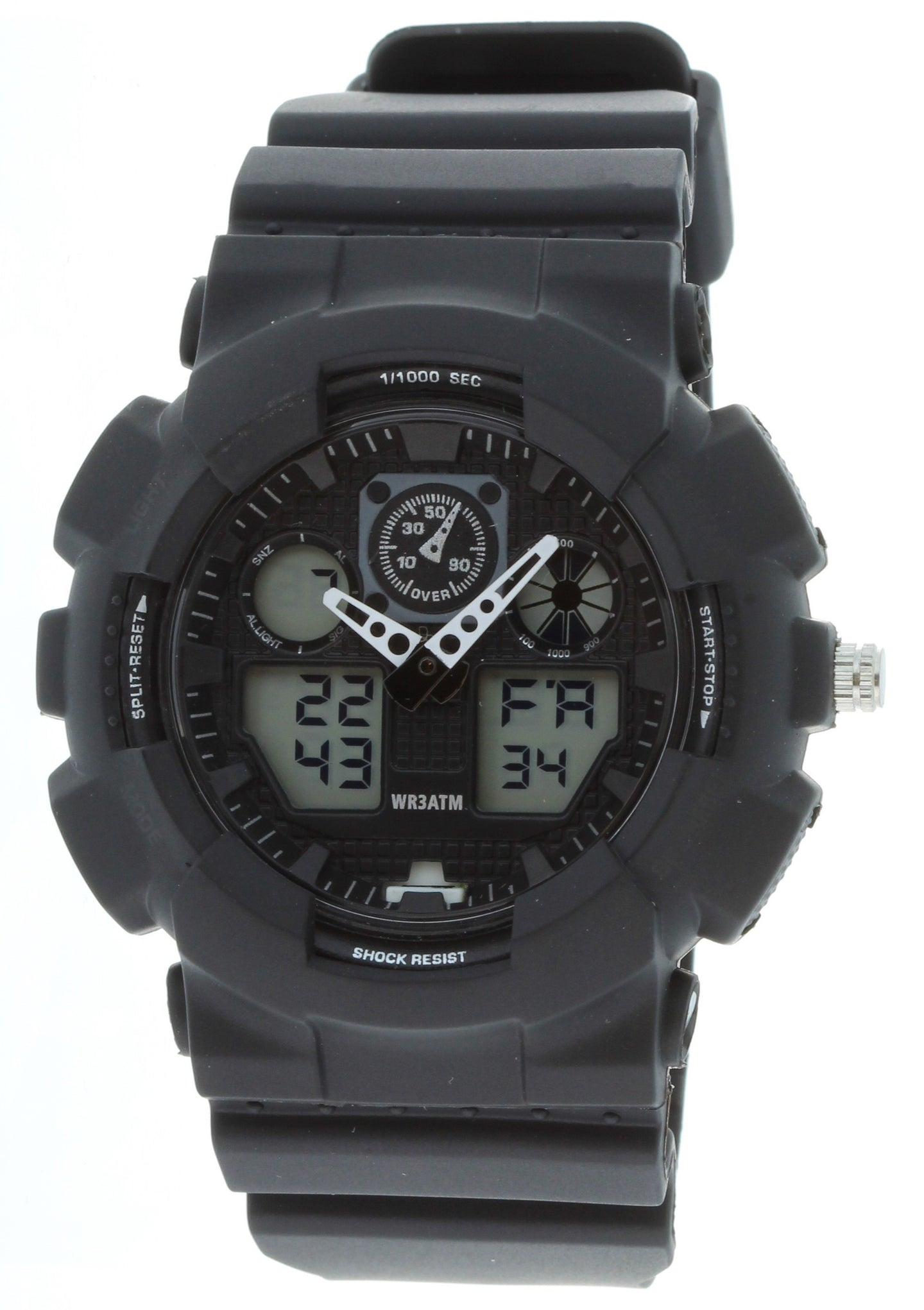 G-Shock Style X-Large Combination Watch--Military Black/Black - BDM4008