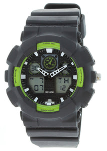 G-Shock Style X-Large Combination Watch--Military Black/ Lim Green - BDM4008