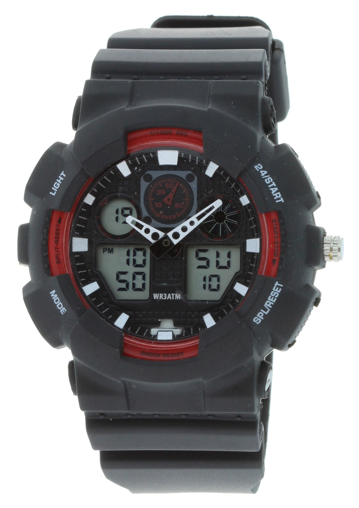 G-Shock Style X-Large Combination Watch--Military Black/ Red - BDM4008